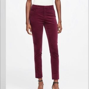 Banana Republic Sloan Fit Velvet Skinny Pants